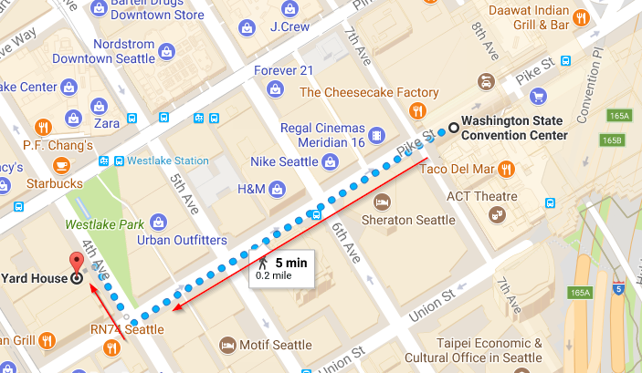 2017-10-29 09_36_42-Washington State Convention Center to yard house seattle - Google Maps