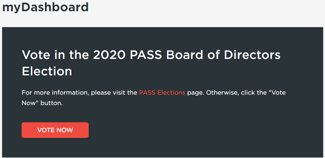 Vote in the PASS Election